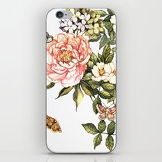 Vintage floral watercolor background iPhone & iPod Skin