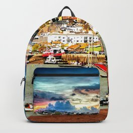 Teignmouth Water Paint Backpack