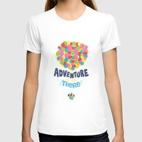risa rodil T-shirts featuring Adventure is out there by Risa Rodil