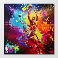 nba Canvas Prints featuring NBA by Don Kuing