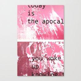 The apocalypse Canvas Print