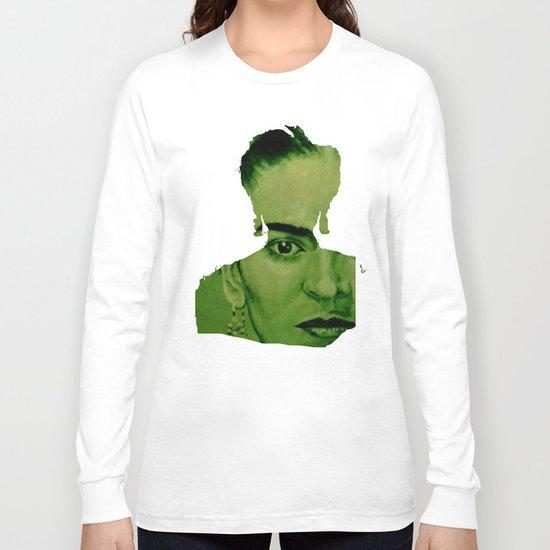 Frida Kahlo - between worlds - green Long Sleeve T-shirt