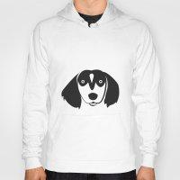 dachshund Hoodies featuring Dachshund by anabelledubois