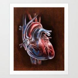 Blood Flow in Human Heart, by Chok Bun Lam Art Print