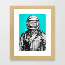 "JFK ASTRONAUT (or ""All Systems Are JFK"") Framed Art Print"