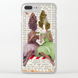 Tea Time Clear iPhone Case