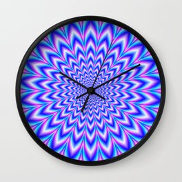 Psychedelic Pulse in Blue and Pink Wall Clock