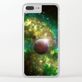 Spacescape Summer Clear iPhone Case