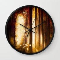 dreams Wall Clocks featuring Dreams by Viviana Gonzalez