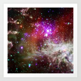 NGC 281 nebula with active star formation (NASA/Chandra) Art Print