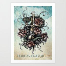 Fearless Guardian Art Print