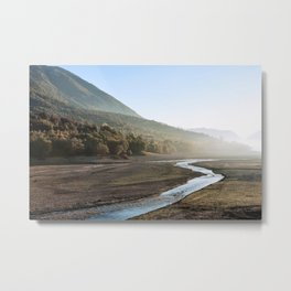 Barrea lake without water, Abruzzo National Park, Italy Metal Print