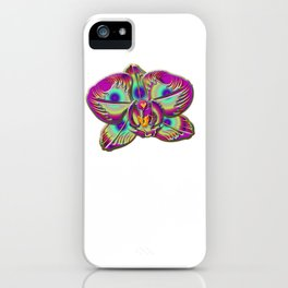 Immortal Orchid Flower Abstract iPhone Case