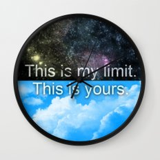 Know Your Limits Wall Clock