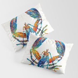 Colorful Lobster Art by Sharon Cummings Pillow Sham