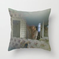 mirror Throw Pillows featuring Mirror by kdyj