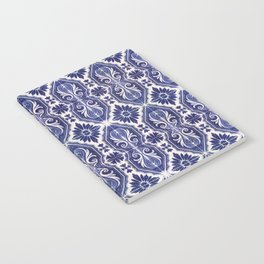 Portuguese Tiles Azulejos Blue White Pattern Notebook
