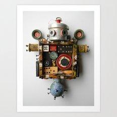 Scrap Bot Art Print