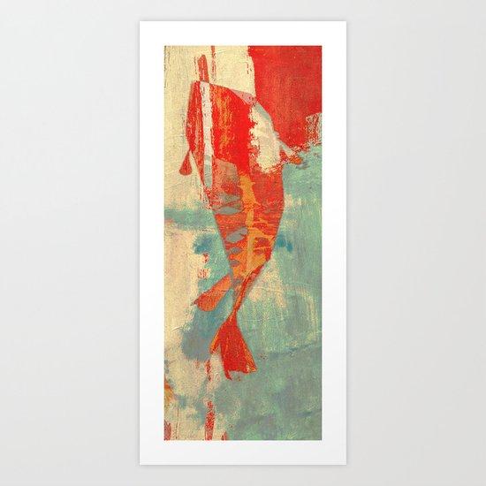 穏やかな海で泳ぐ (Swimming in Calm Waters) Art Print