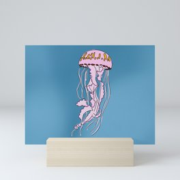 Jellyfish in the ocean Mini Art Print