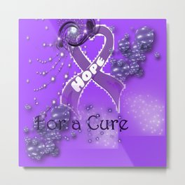 Hope For A Cure - Pancreatic Cancer Metal Print