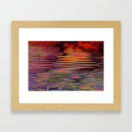 digital lava Framed Art Print