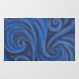 Blue Swirl Rug