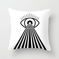 Laser Eye Throw Pillow