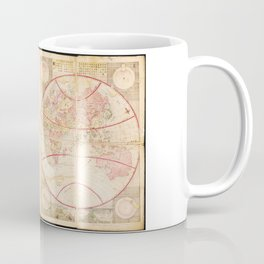 Chikyū Zenzu World Map by Kōkan Shiba (c1790) Coffee Mug