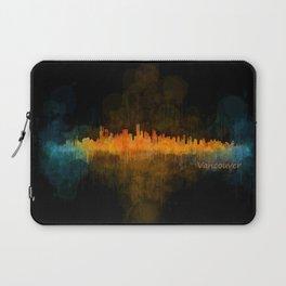 Vancouver Canada City Skyline Hq v04 dark Laptop Sleeve