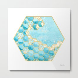 Great Hexagonal Wave Metal Print