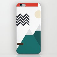 twin peaks iPhone & iPod Skins featuring Twin Peaks by Art by FOUR.