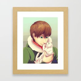Soft kitty warm kitty Framed Art Print