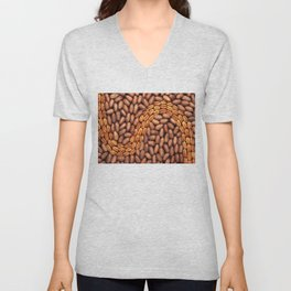 Pecans in a design Unisex V-Neck