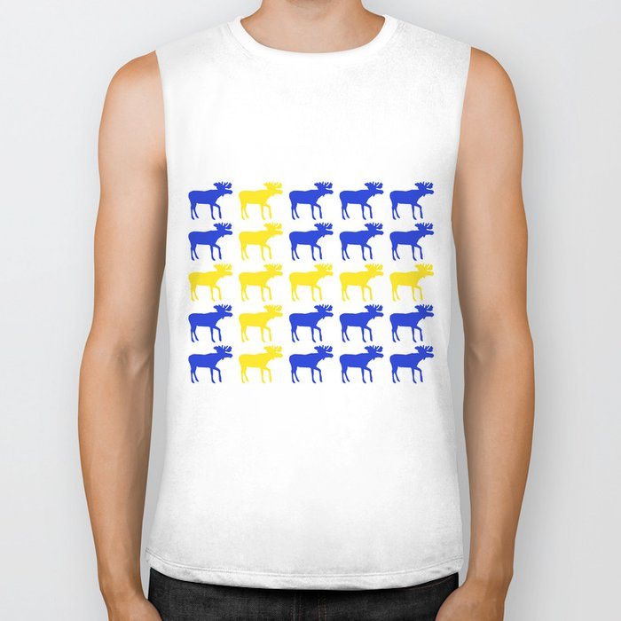 Graphic Swedish Moose Flag I Biker Tank