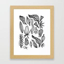 Plant Girl Framed Art Print