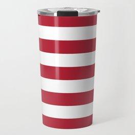 PATRIOTIC JULY 4TH  RED STARS DECORATIVE DESIGN Travel Mug