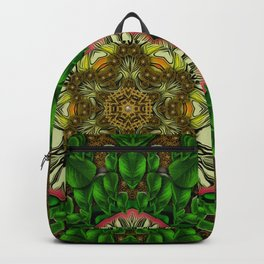 Gothic  metal and golden fresh meditative flowerpower Mandala Backpack