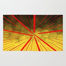 Yellow Complex Abstract Rug