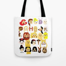 Princess Alphabet Tote Bag