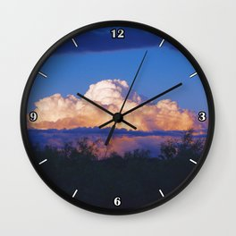 Glowing clouds after the storm Wall Clock