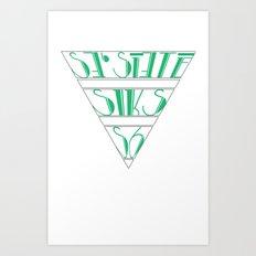 s6_tee_4 - I'm an S6 Phonetic Art Print