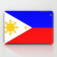 philippines iPad Cases featuring Philippines country flag by tony tudor