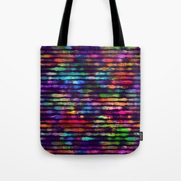Rainbow watercolor brush stripes Tote Bag