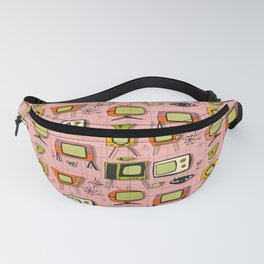 Retro Tv Pink #midcentury Fanny Pack