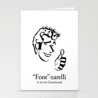 font Stationery Cards featuring 'Font'-zarelli by Christian Bailey