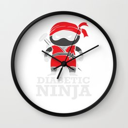 Diabetic Support Ninja Type 1 Diabetes Wall Clock