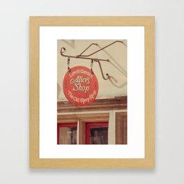 Alice's Shop Framed Art Print