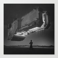 Canvas Prints featuring MOTHERSHIP (everyday 11.06.16) by beeple