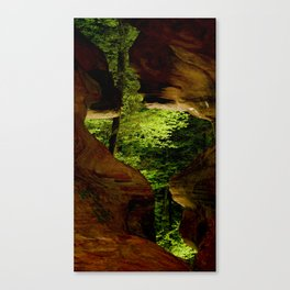 Cave-out Kiss Canvas Print